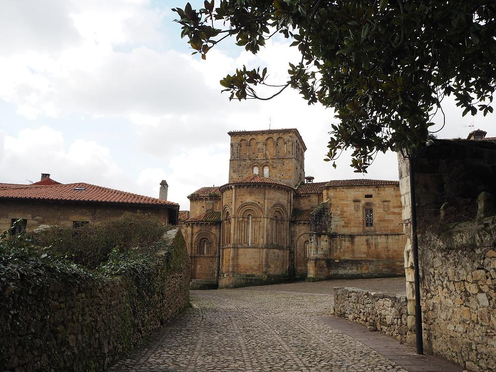 cobbled streets in medieval Santillana del Mar