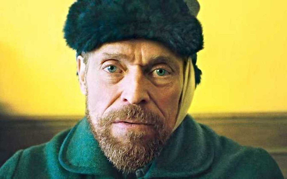 actor William Dafoe as Vincent Van Gogh in the film At Eternity's Gate