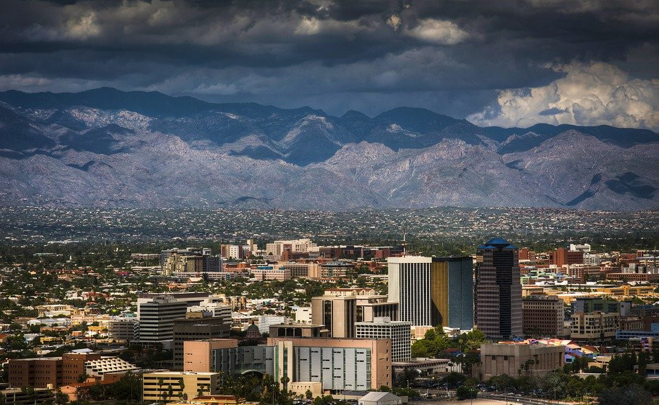skyline of Tucson Arizona