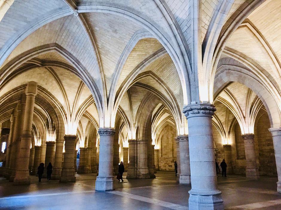 the Salon des gens d'armes in the Conciergerie, a UNESCO-listed site
