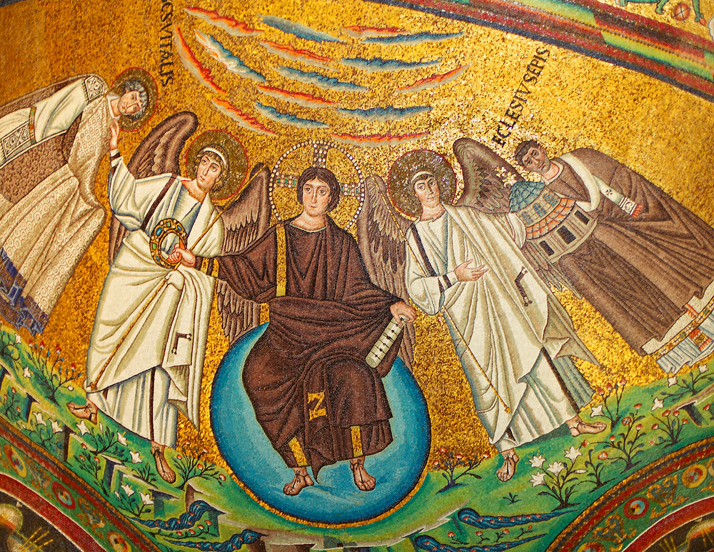 mosaic of Jesus in the Basilica of San Vitale in Ravenna