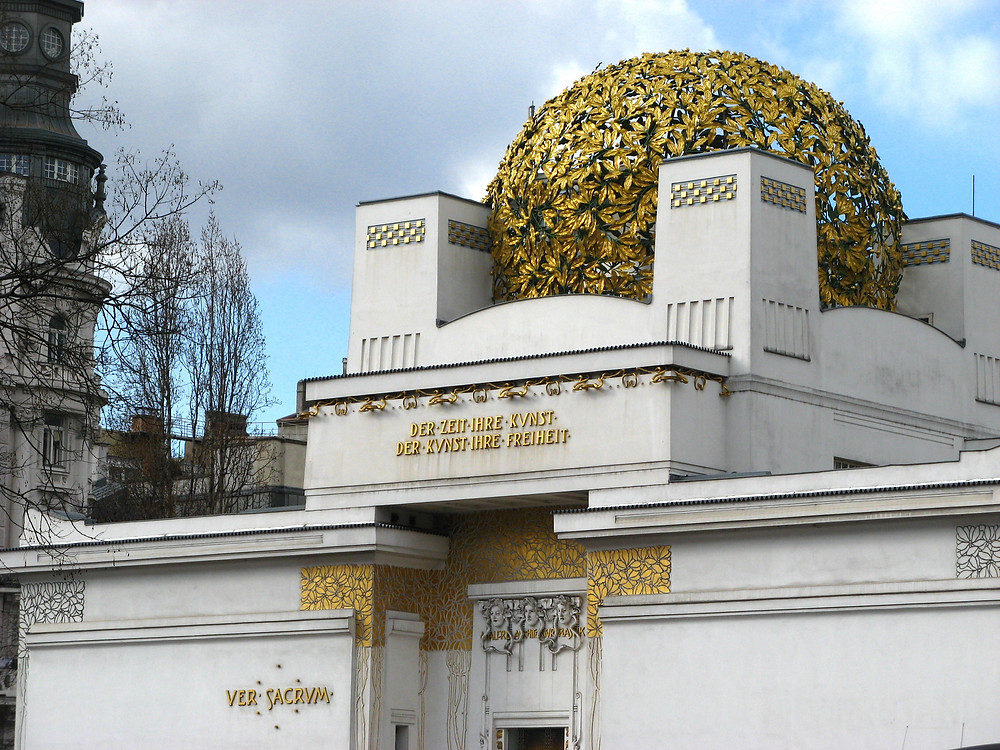 "the Vienna Secession Museum with its ""golden cabbage"" dome"