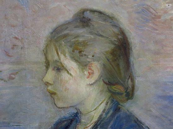 Berthe Morisot, detail from Paule Gobillard, 1887