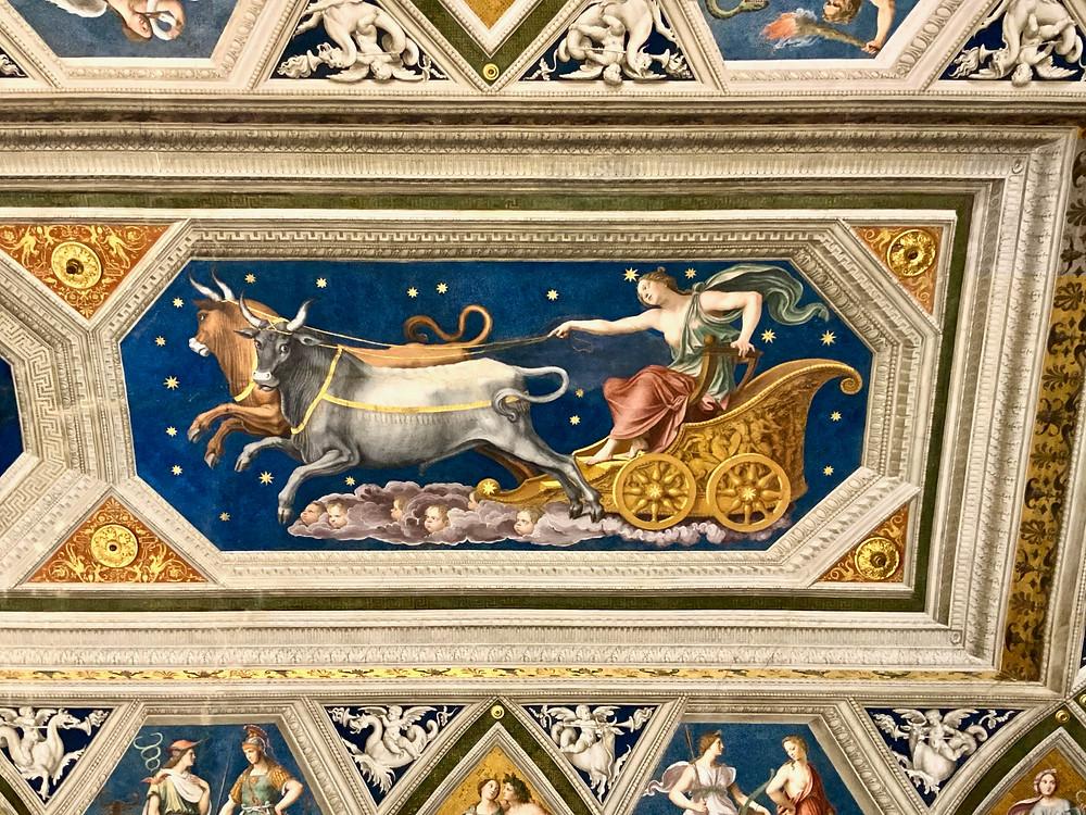 ceiling fresco in the Hall of Galatea in Villa Farnesina