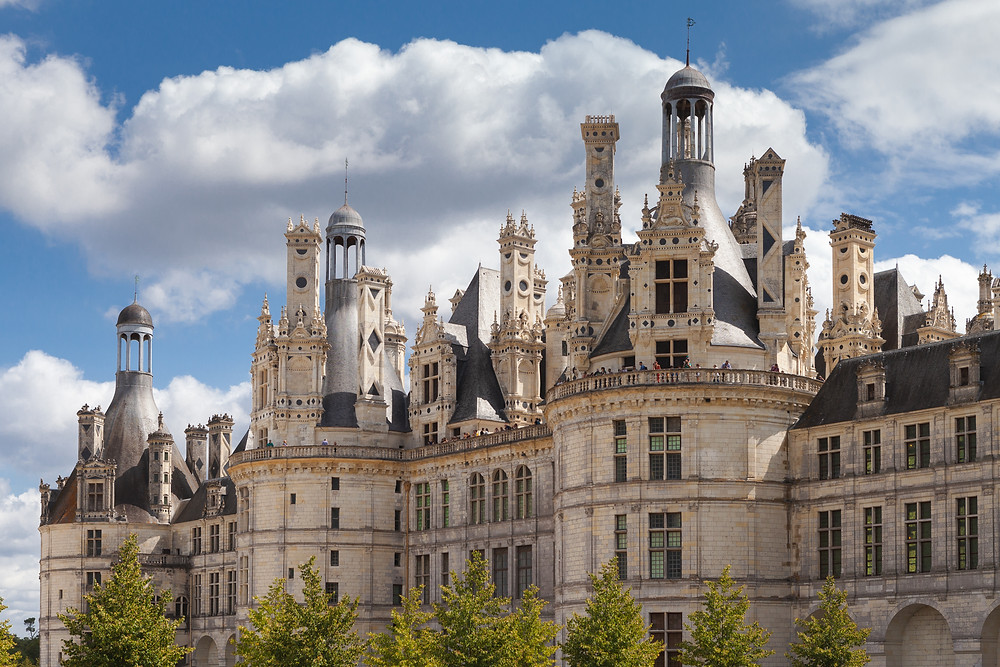 facade of Chateau Chambord