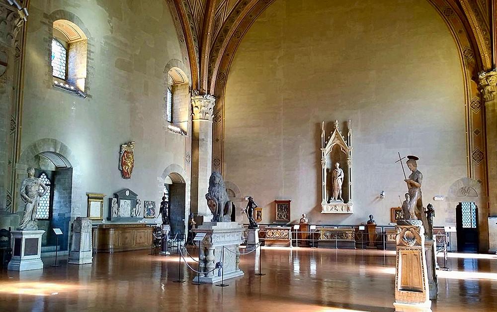 the Donatello room in the Bargello