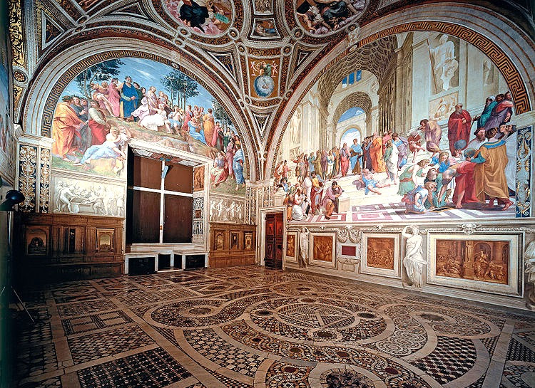 two frescos in the Room of the Signature
