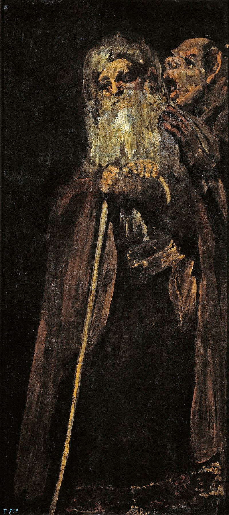 one of Goya's Black Paintings, Two Old Men, 1819-23