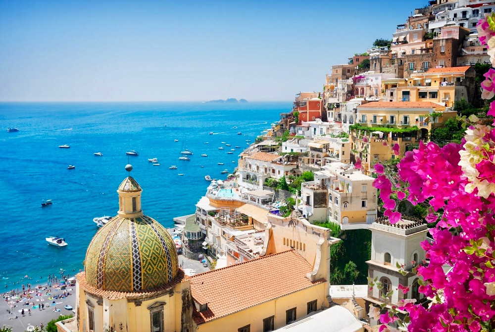 the beautiful town of Positano on the Amalfi Coast