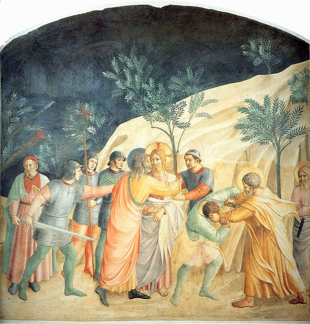 The Arrest of Christ in Fra Angelico's personal cell in San Marco Monastery