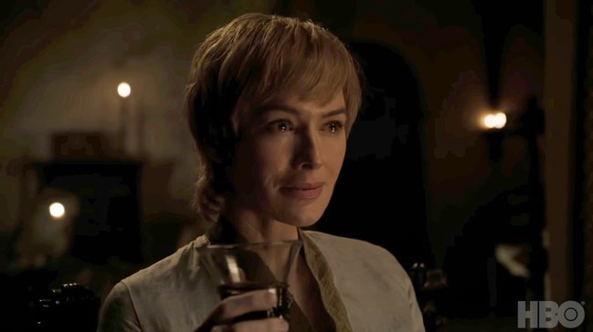 still of Cersei Lannister from Game of Thrones Season 8 trailer