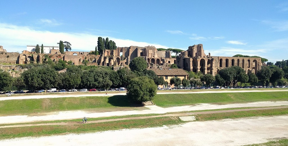 Circus Maximus, with the ruins of Domitian's Palace in the background
