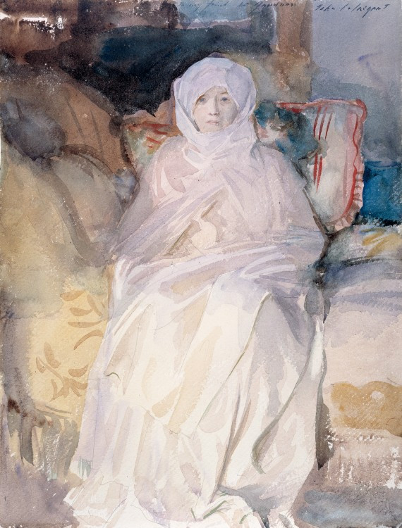 a 1920 watercolor of Gardner by Singer Sargent