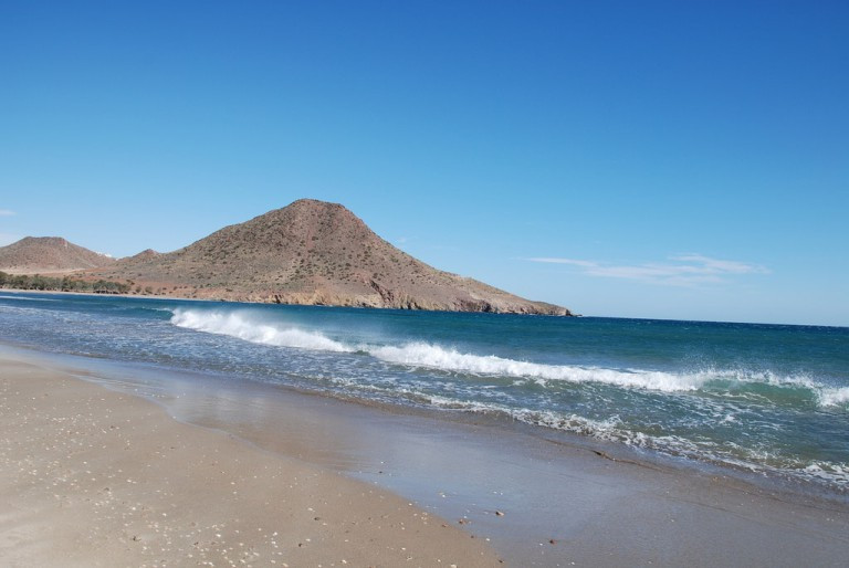 the beach in Almeria Spain n Andalusia