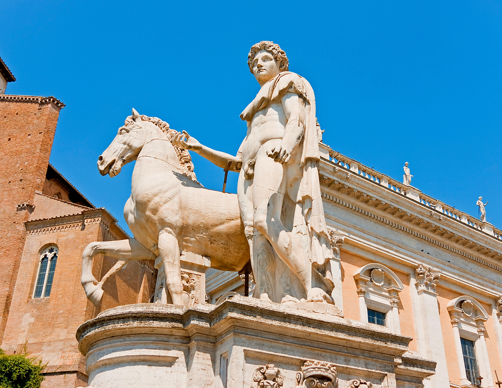 Statue of Castor and Horse on Capitoline Hill