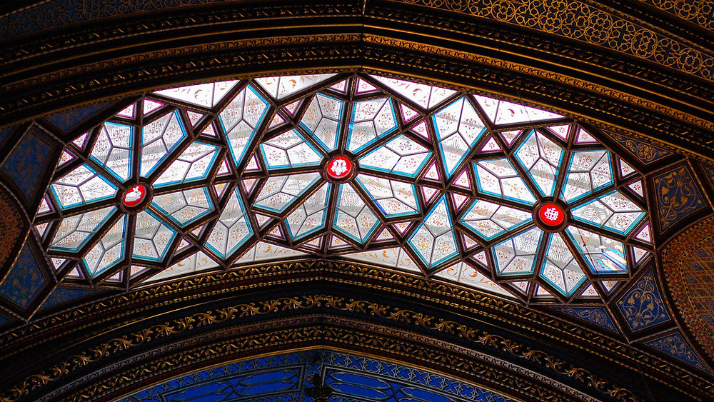 stained glass ceiling panel of the basilica