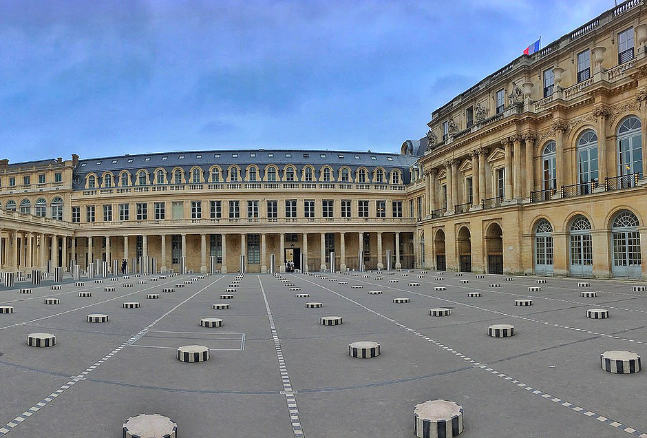 the Palais Royal and the Colonnes de Buren