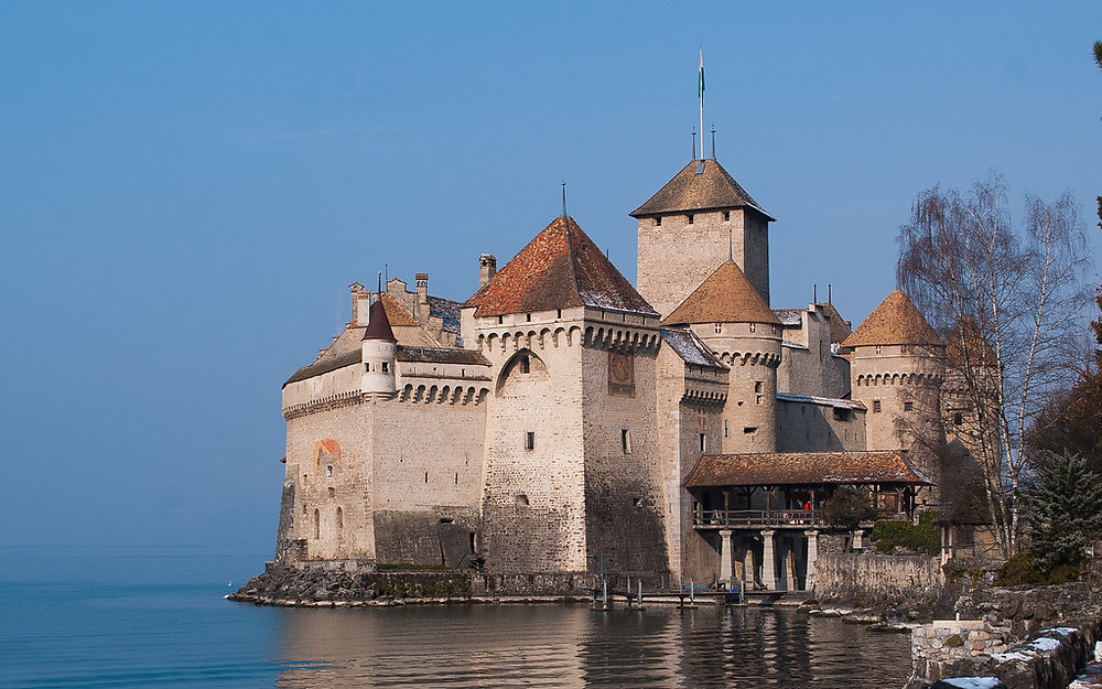 Chillon Castle, one of the best preserved medieval castles in Europe