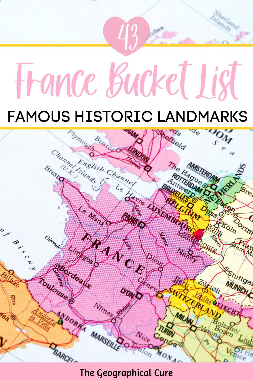 40+ famous landmarks in France