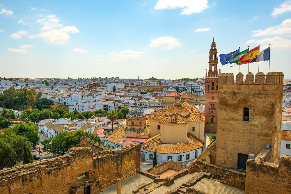 the ancient white pueblo village of Carmona Spain, a fantastic day trip form Seville