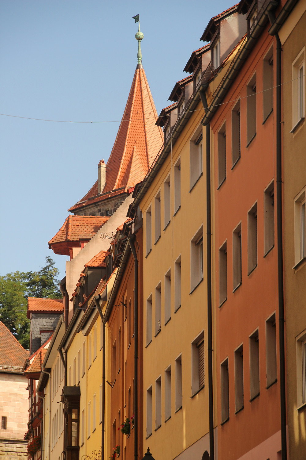 more colorful facades in Nuremberg Germany