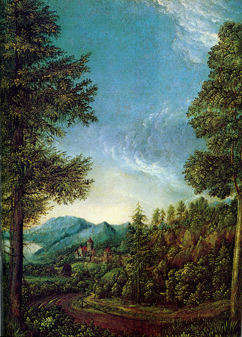 Danube landscape near Regensburg, by Albrecht Altdorfer