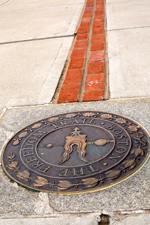 Freedom Trail marker