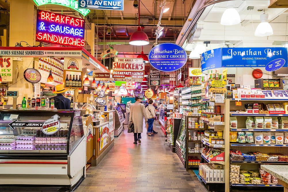 Reading Terminal Market in downtown Philly
