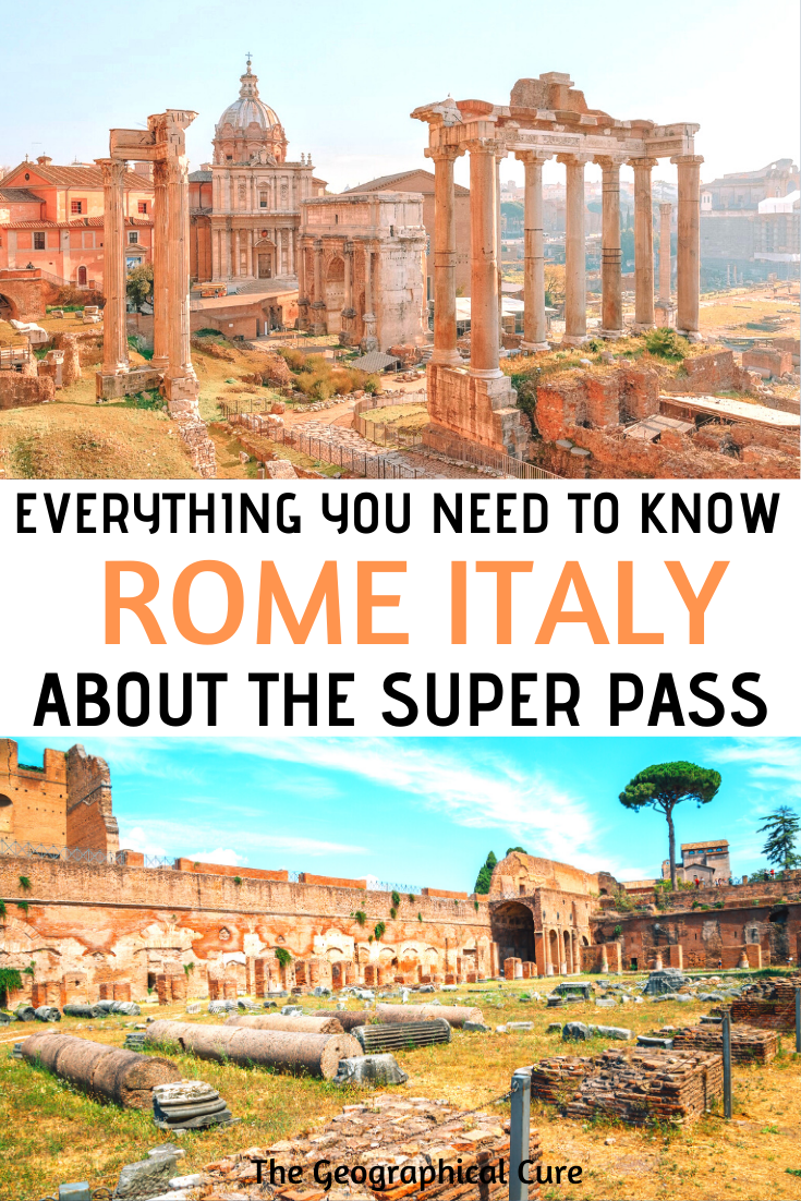 everything you need to know about buying and using the S.U.P.E.R. pass in Rome Italy