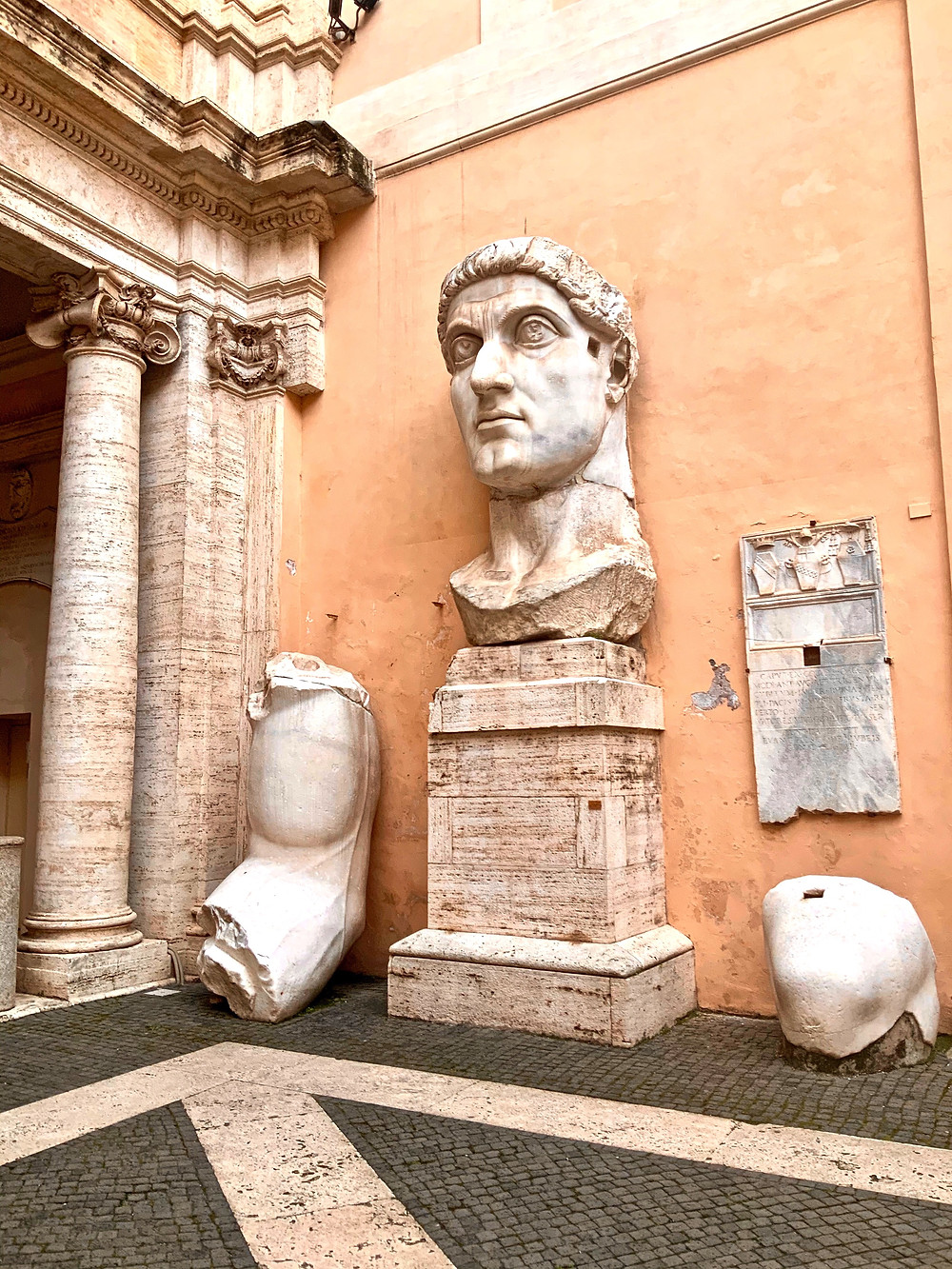 remains of the colossus of Constantine in the Capitoline Museums
