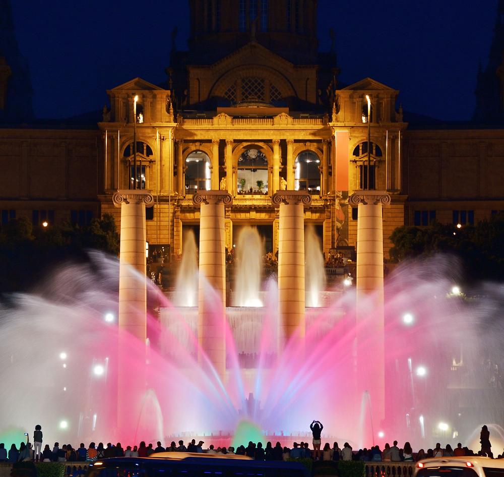 Magic Fountain light show at Placa Espanya