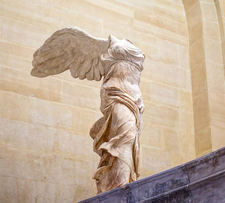 Winged Victory of Samothrace, 220-190 BC, second floor of the Denon Wing