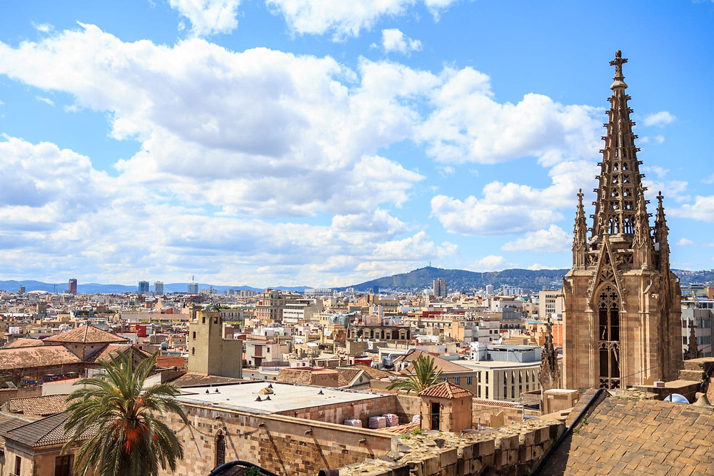 view from Barcelona Cathedral