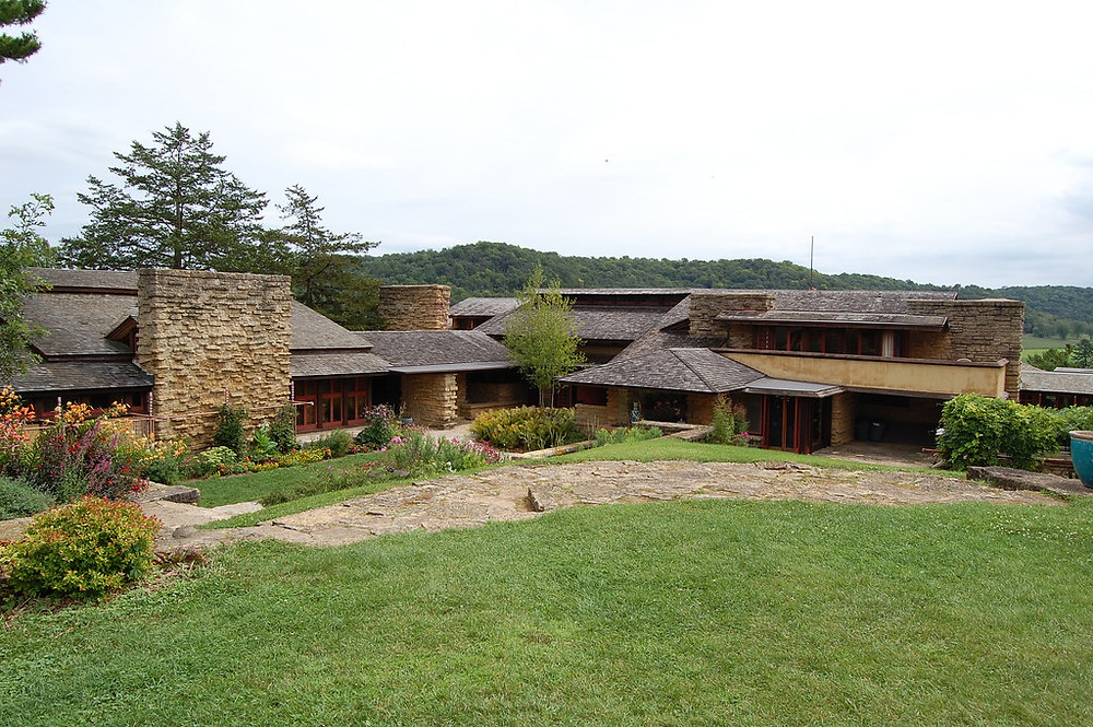Wright's home, Taliesin East, in Spring Green Wisconsin