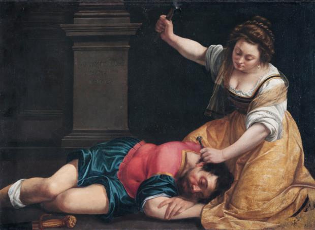 Artemisia Gentileschi, Jael and Sisera,1620 -- in Budapest