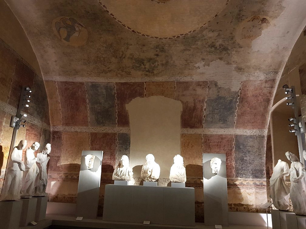 busts and sculptures in Pisa's Duomo Museum