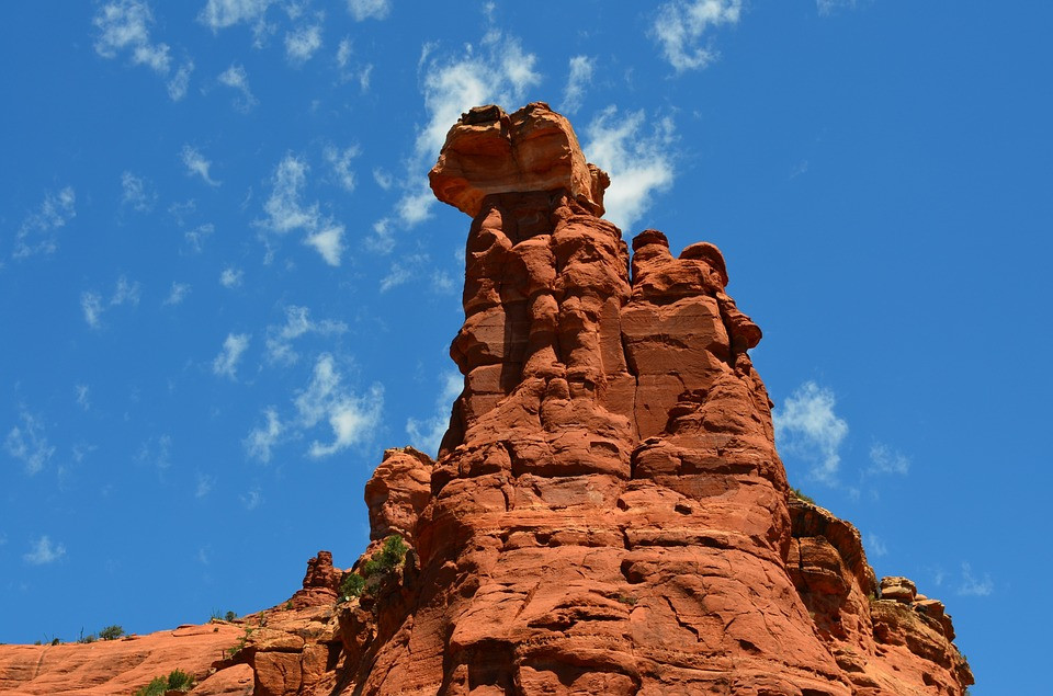 a towering vortex in Sedona