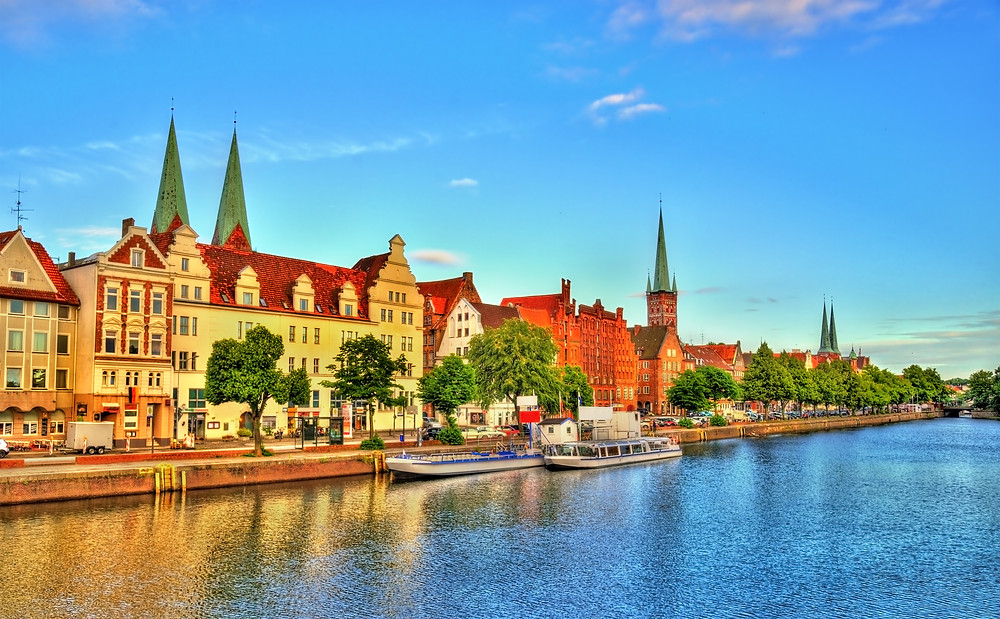 the UNESCO-listed Lubeck Germany, situated on the Travel River