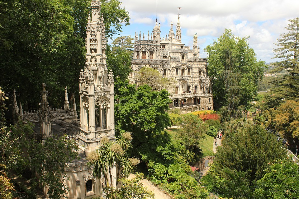 Palace of Quinta da Regaleira in Sintra Portugal