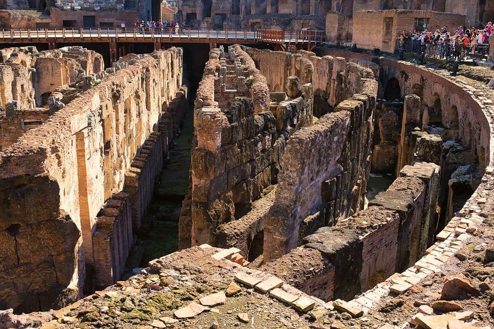 labyrinthian tunnels of the hypogeum