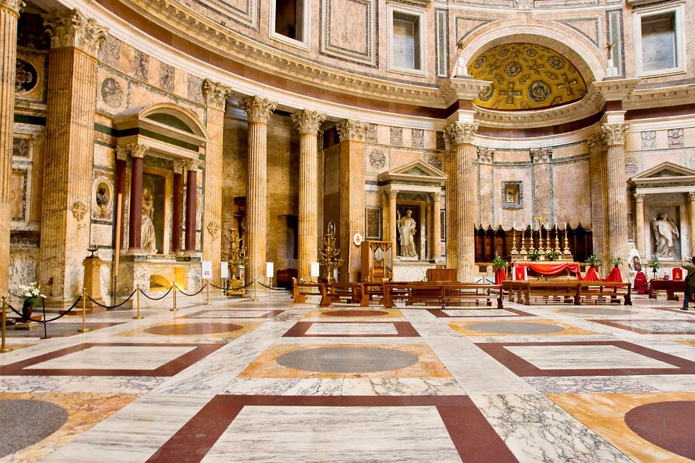 beautiful interior of the Pantheon