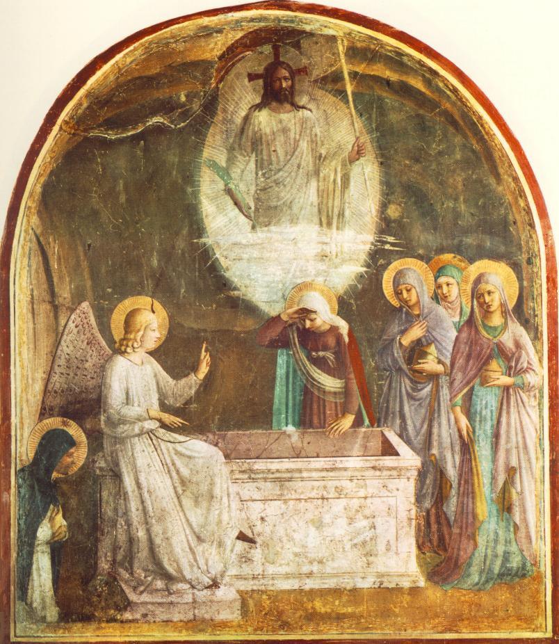 Fra Angelico, Resurrection of Christ and Women at the Tomb -- Cell 8