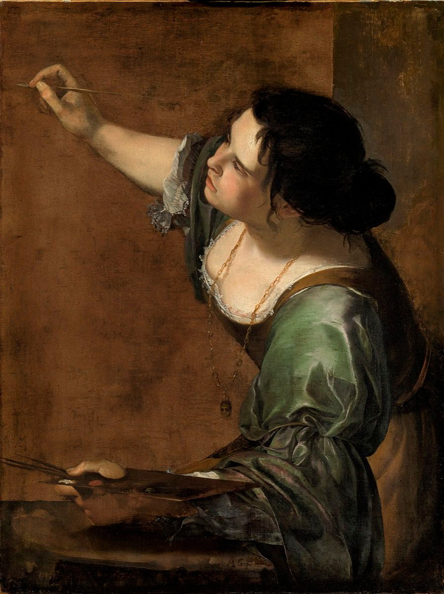 Artemisia Gentileschi, Self Portrait as the Allegory of Painting, ca. 1638-39.