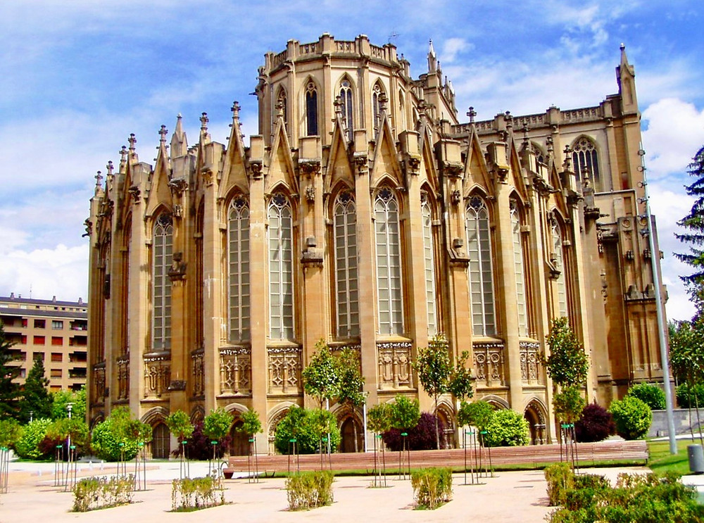 the new cathedral in Vitoria-Gasteiz