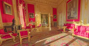the Crimson Room in Windsor Castle