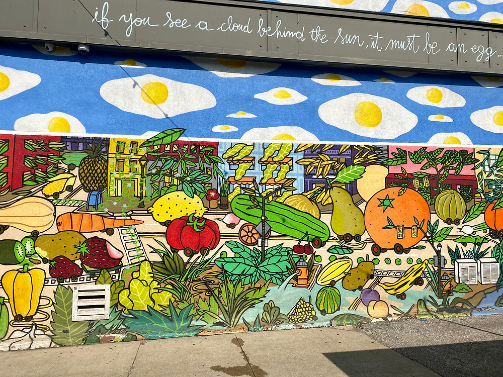 mural in the Ohio City neighborhood next to West Side Market