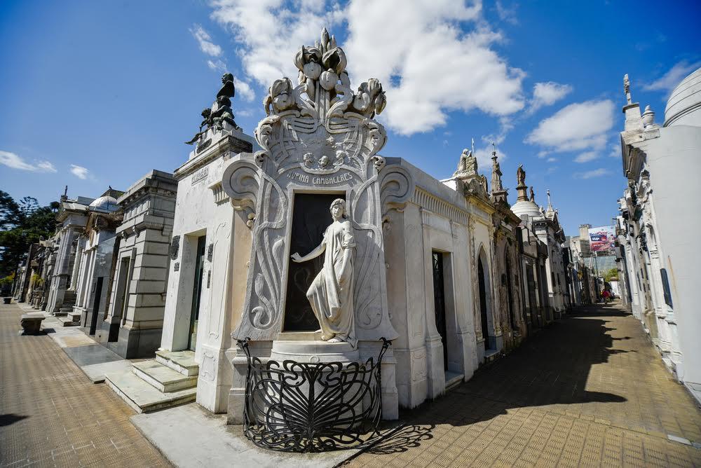 art nouveau grave at Pere LaChaise Cemetery