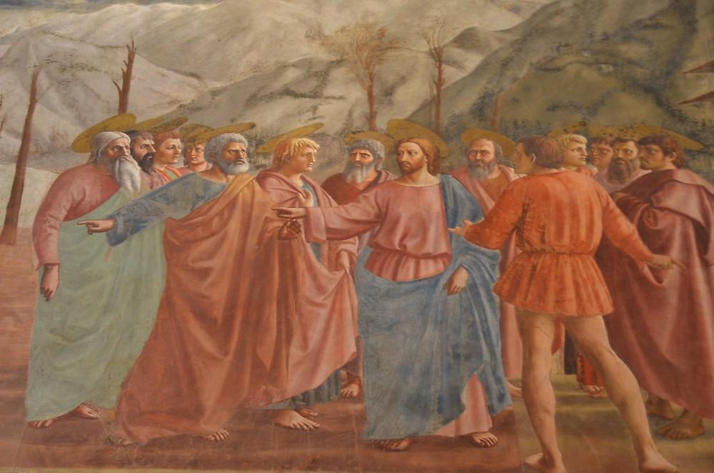 Masaccio, The Tribute Money, 1426-27