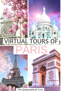 virtual tours of Paris landmarks and museums