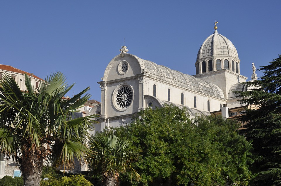 the UNESCO-listed St. James Cathedral in Sibenik Croatia